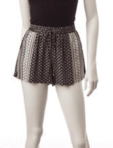 BeBop Black & White Tribal Print Shorts