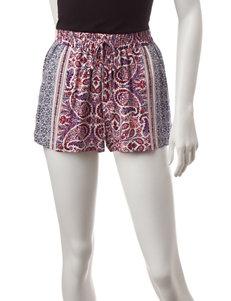 BeBop Blue / Coral Soft Shorts