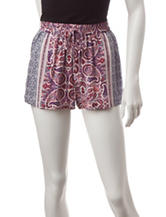 BeBop Multicolor Paisley Print Shorts