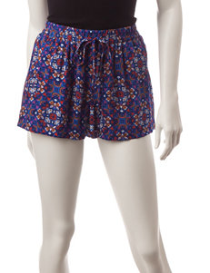 BeBop Multicolor Medallion Print Shorts