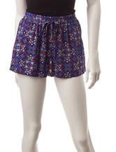 BeBop Multicolor Medallion Print Shorts