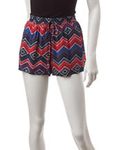 BeBop Multicolor Chevron Print Shorts