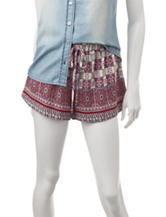 Heart Soul Mixed Bandana Print Shorts