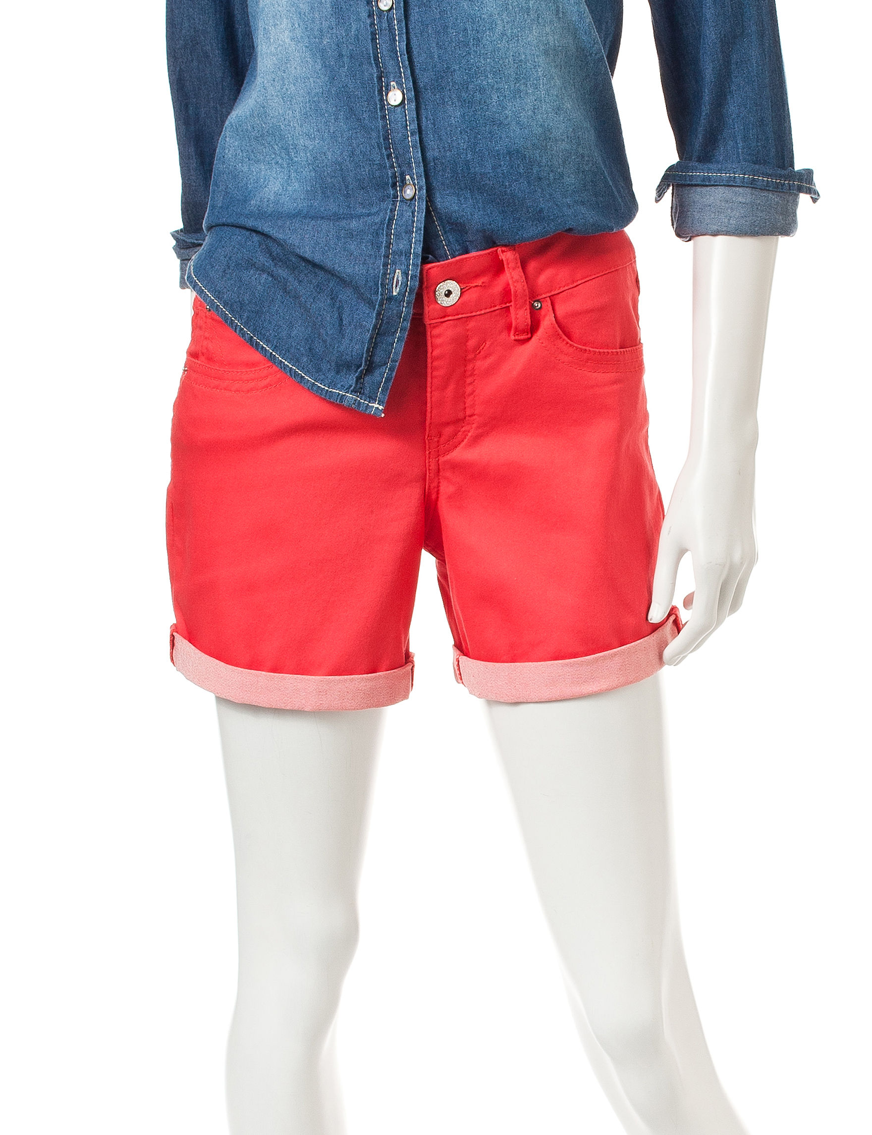 Signature Studio Orange Denim Shorts