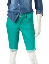 Signature Studio Green Bermuda Shorts