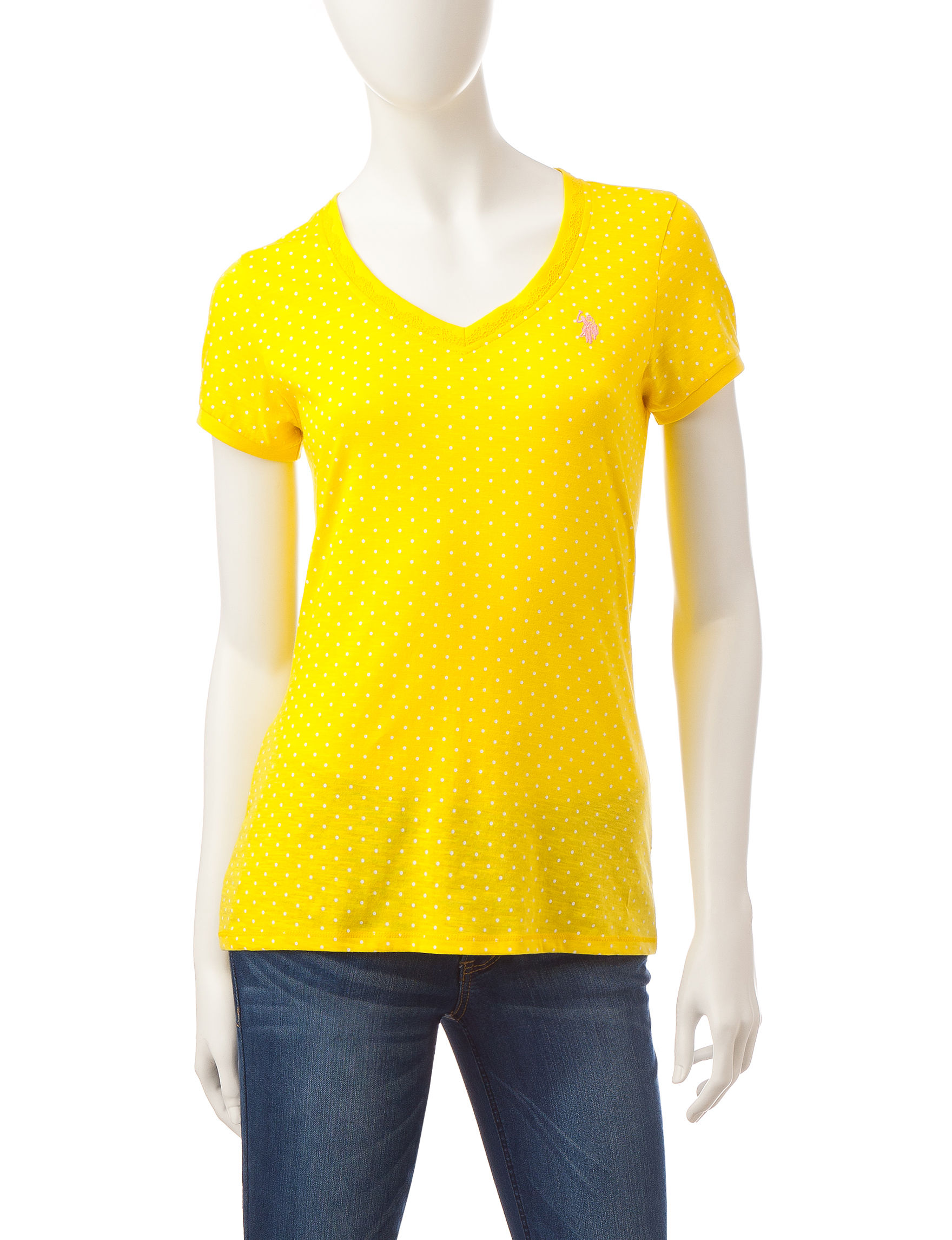 U.S. Polo Assn. Yellow Tees & Tanks
