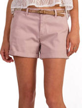 Unionbay® Stretch Twill Belted Shorts