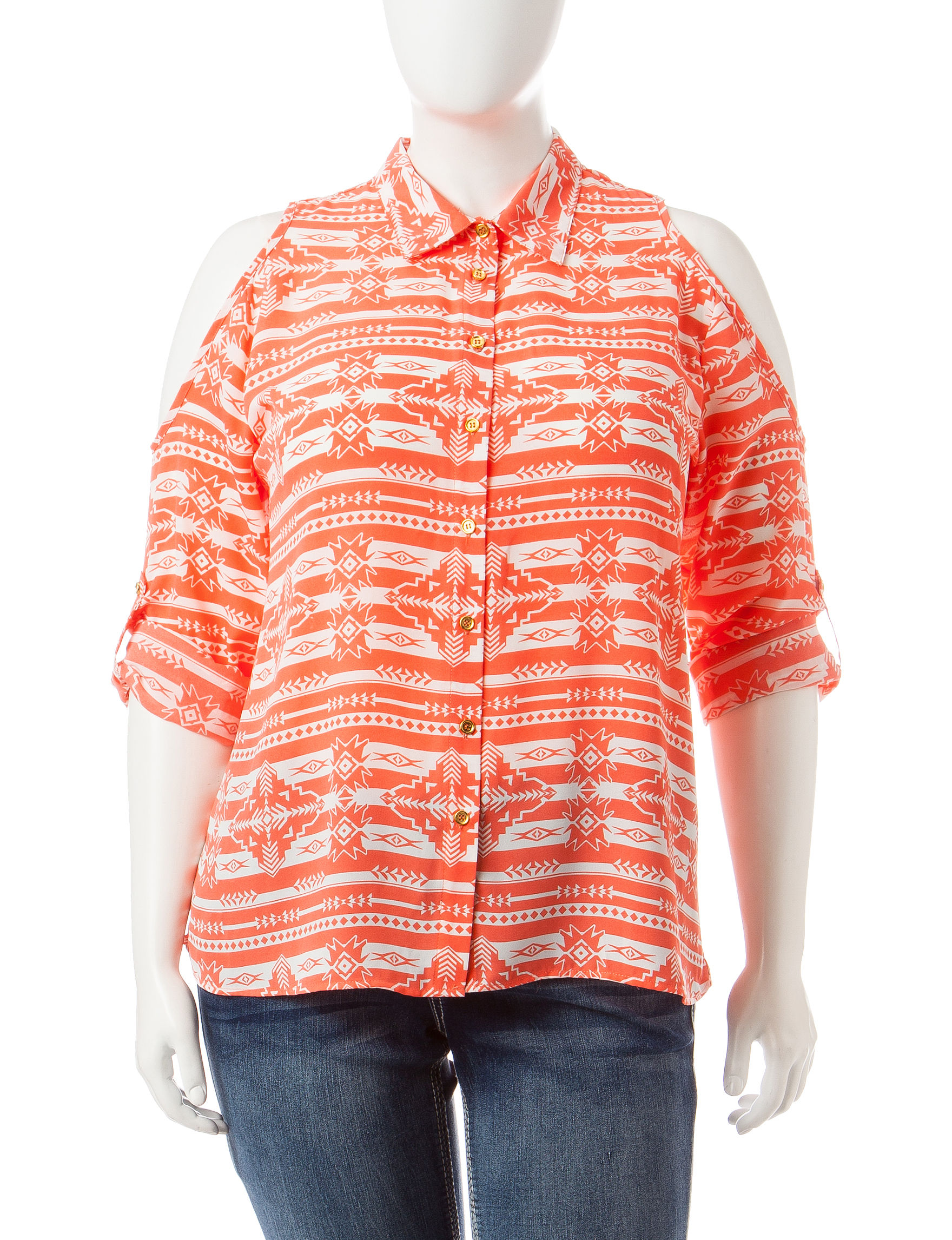 Justify Coral Shirts & Blouses