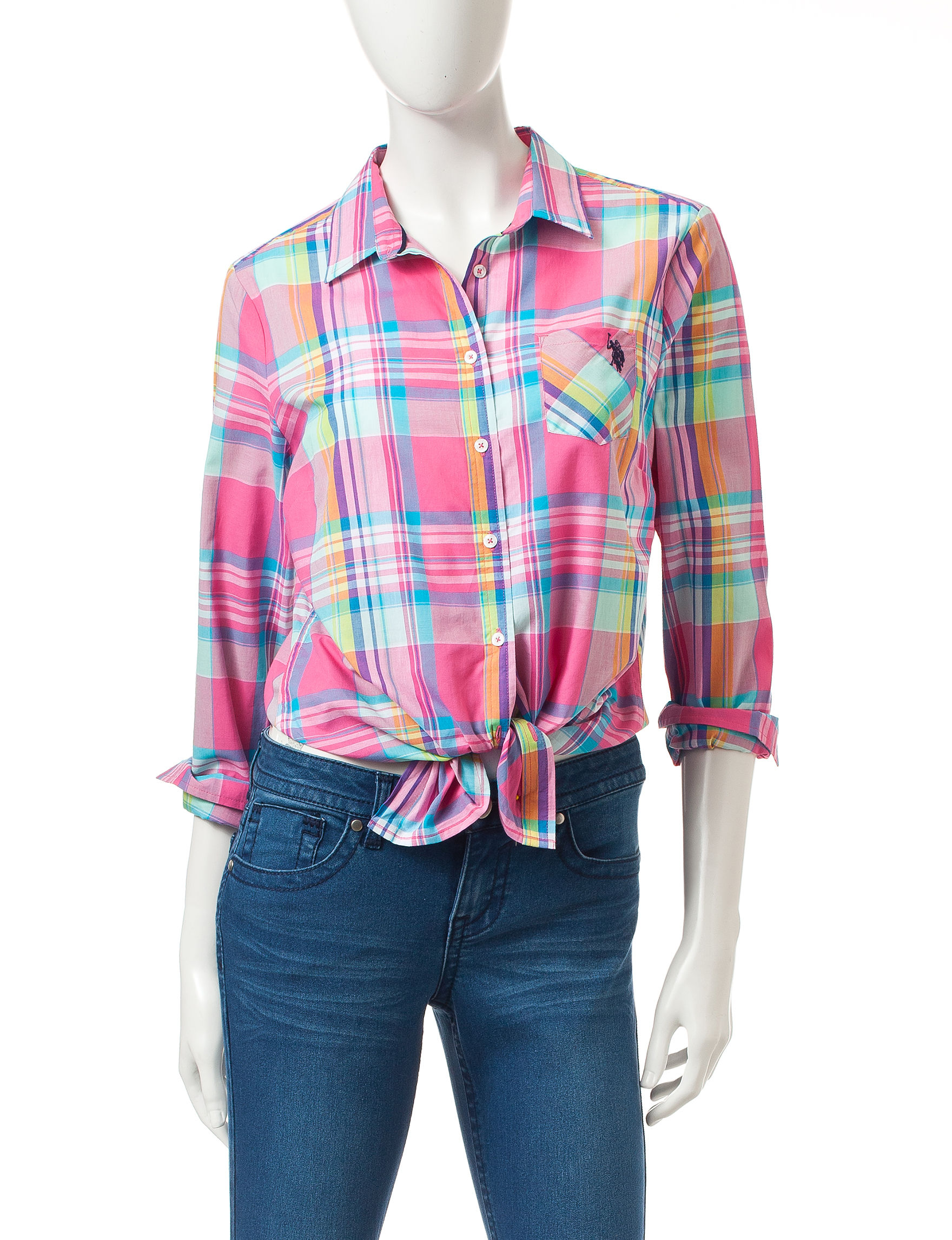U.S. Polo Assn. Medium Pink Shirts & Blouses