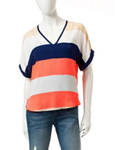 Wishful Park Multicolor Striped Print Top