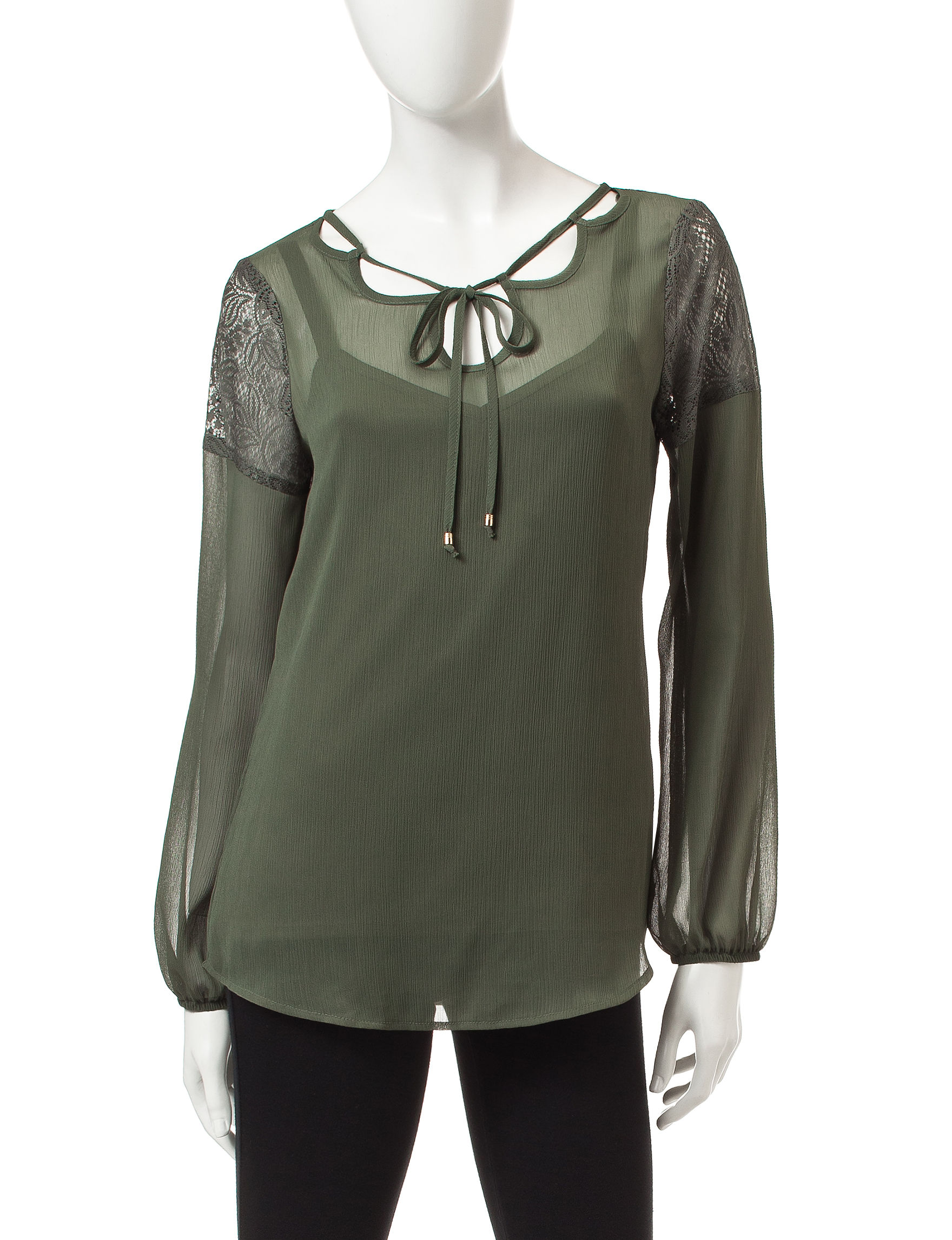AGB Green Shirts & Blouses