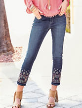Signature Studio Medium Wash Embroidered Jeans