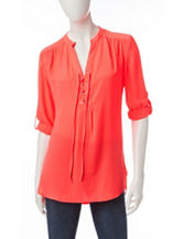 Wishful Park Orange Chiffon Top