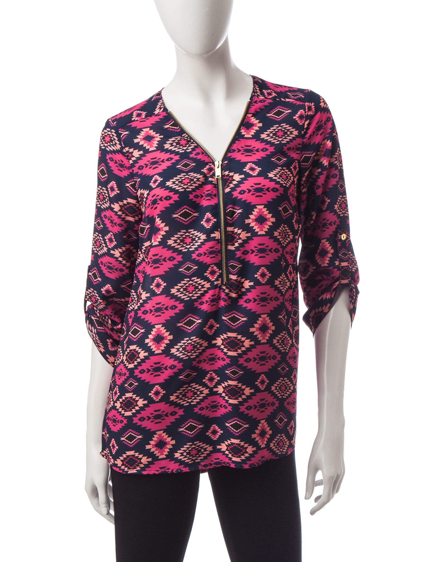 Wishful Park Red Multi Pull-overs Shirts & Blouses