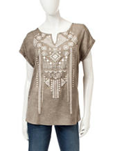 Signature Studio Aztec Embellished Top