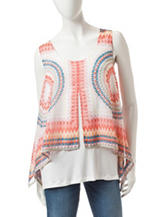 AGB Multicolor Tribal Print Top