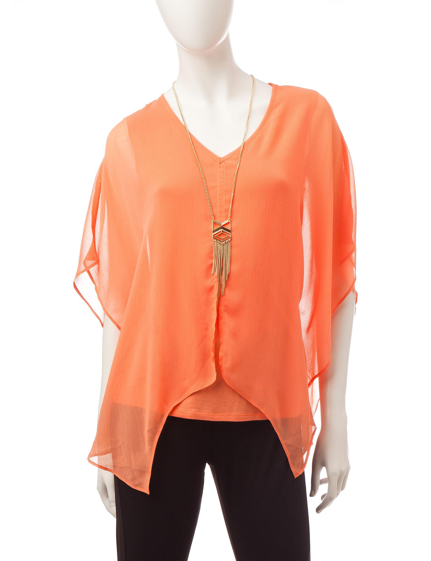 AGB Orange Shirts & Blouses