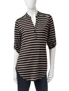 Wishful Park Black & White Striped Top