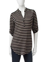 Wishful Park Black & White Striped Top