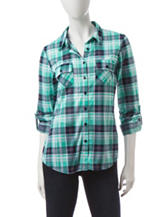 Wishful Park Multicolor Plaid Top