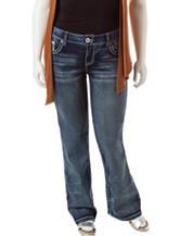 Amethyst Juinors-plus Glitter Back Bootcut Jeans