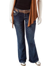 Amethyst Plus-size Belted Bootcut Jeans