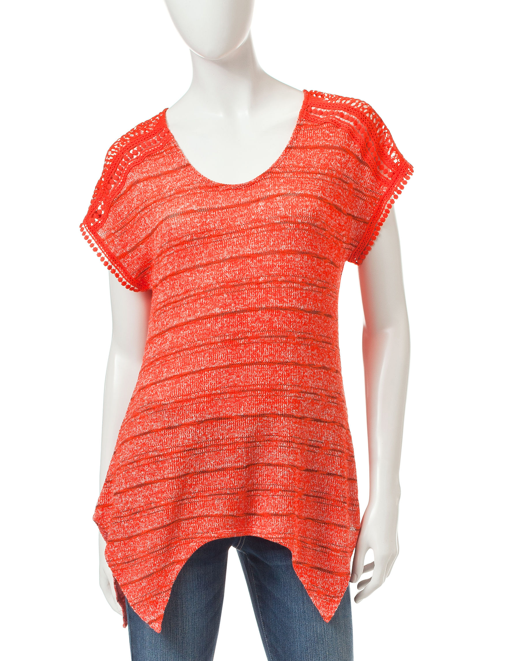 Signature Studio Orange Shirts & Blouses