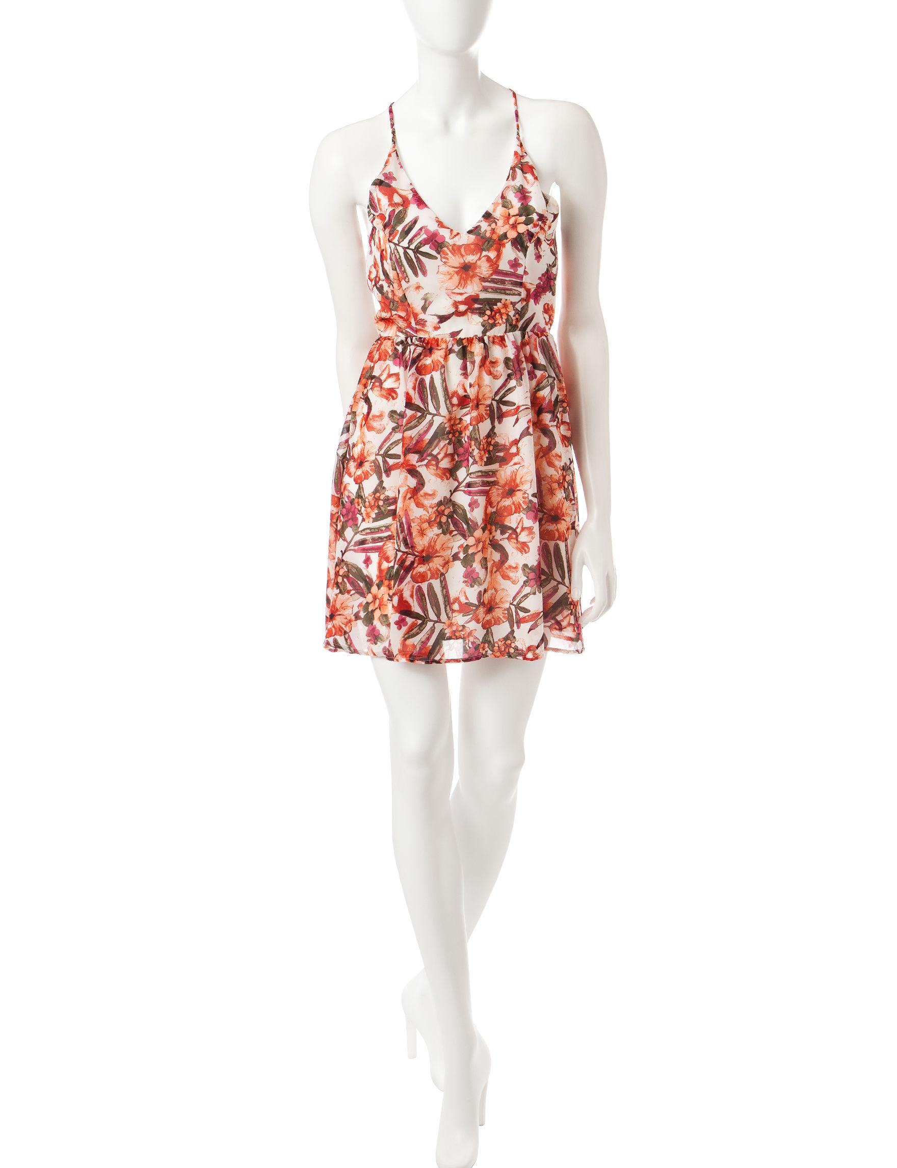 Romeo + Juliet Couture White / Multi Sundresses