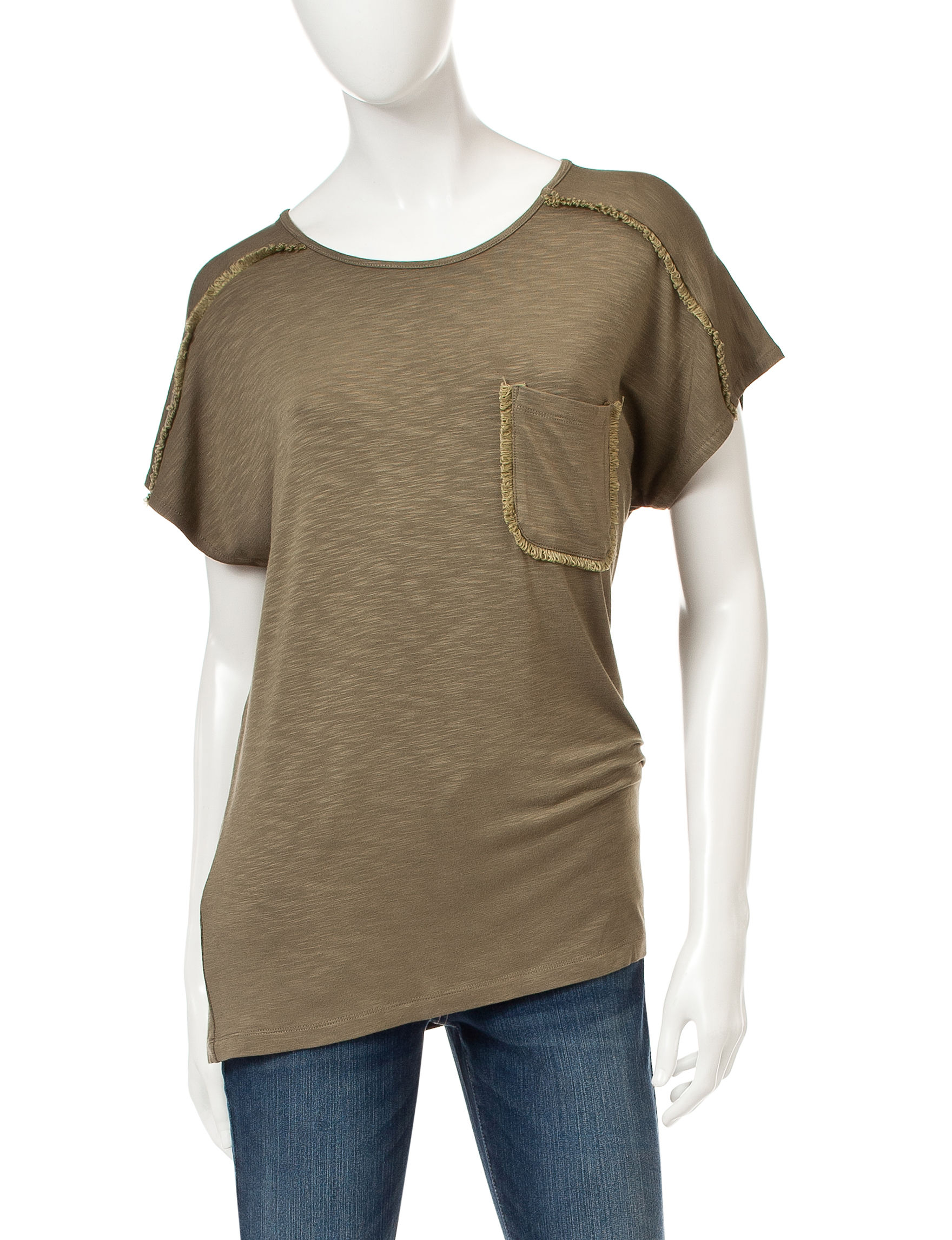 Signature Studio Green Shirts & Blouses