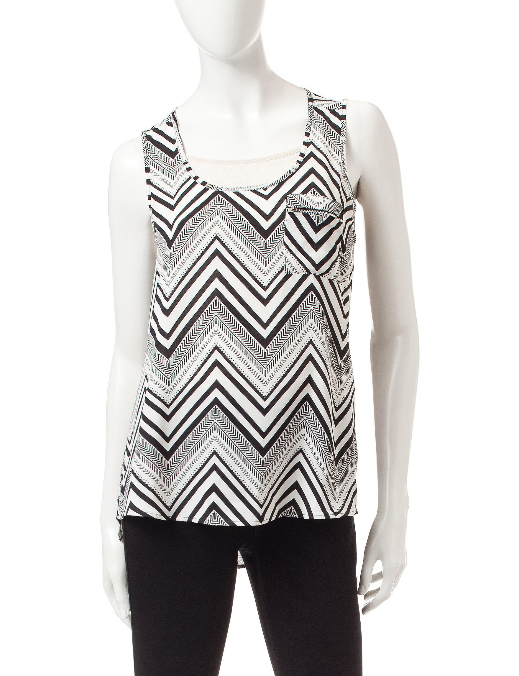 Signature Studio Black /  White Shirts & Blouses
