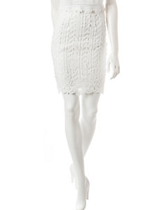 Romeo + Juliet Couture White Lace Skirt