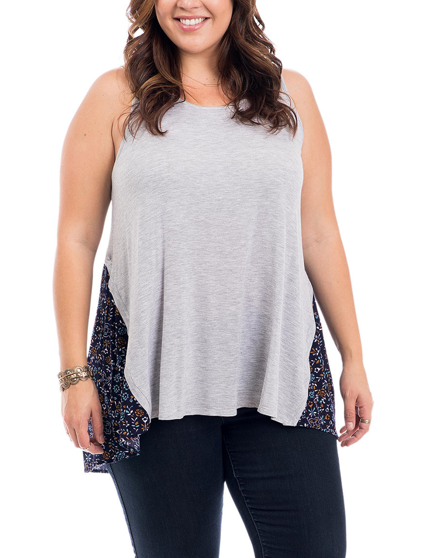 Eyeshadow Heather Grey Tees & Tanks