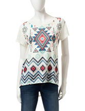 Signature Studio Aztec Print Top