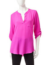 Signature Studio Magenta Pocket Top