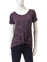 Signature Studio Side Knot Spacedye Top