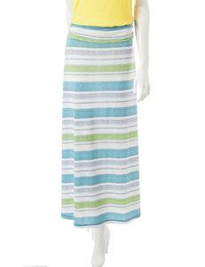 Signature Studio Multicolor Striped Print Maxi Skirt
