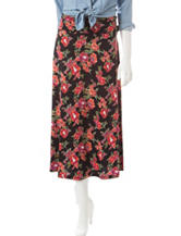 Signature Studio Multicolor Floral Print Maxi Skirt