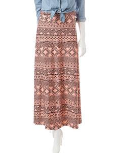 Signature Studio Tribal Print Maxi Skirt