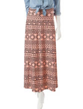 Signature Studio Tribal Print Maxi Skirt