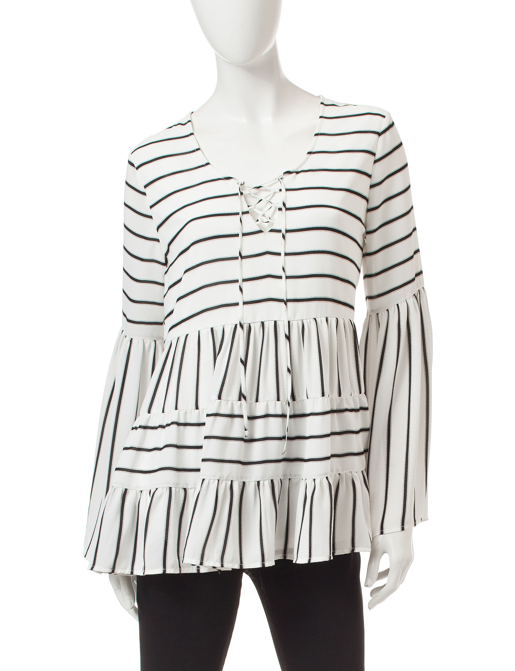 Signature Studio Black / White Shirts & Blouses