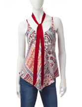 Heart Soul Reversible Tie Scarf Top