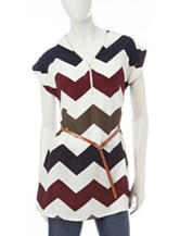 Justify Multicolor Chevron Print Top