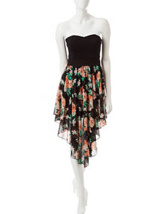Liberty Love Black Floral Strapless