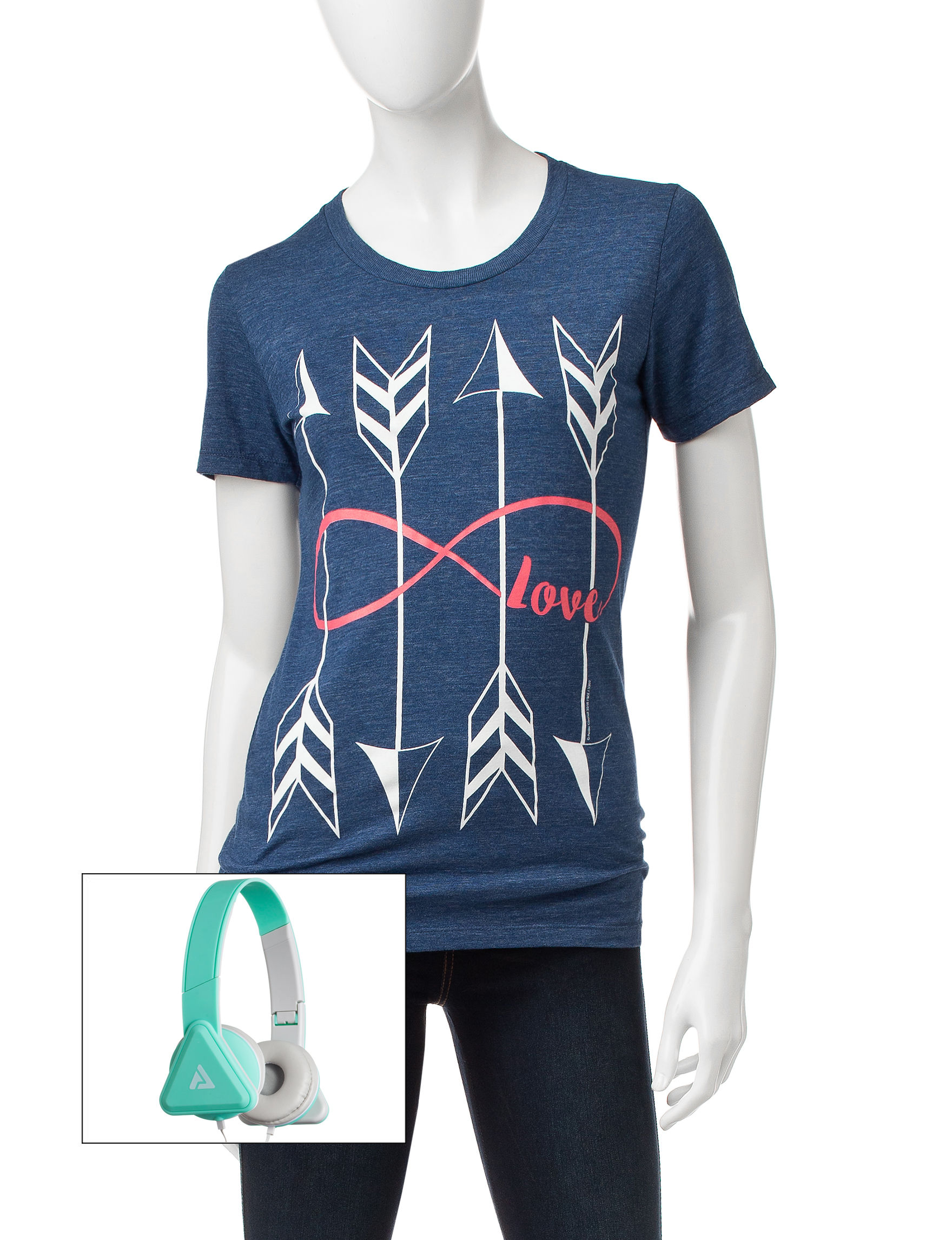 Audio Council Blue Heather Tees & Tanks