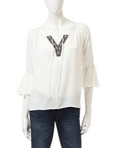 Heart Soul Ivory Shirts & Blouses