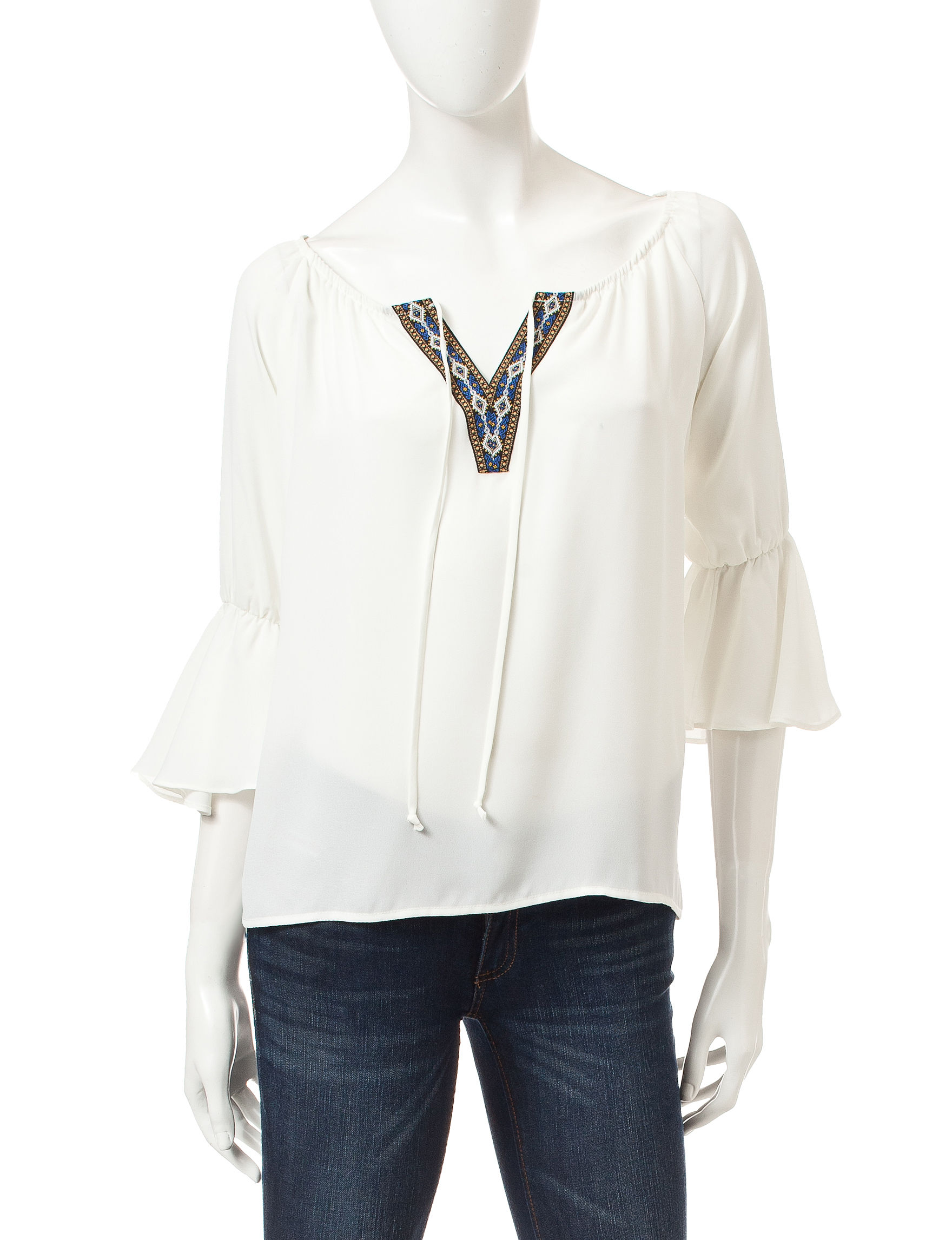 Heart Soul Ivory Shirts & Blouses