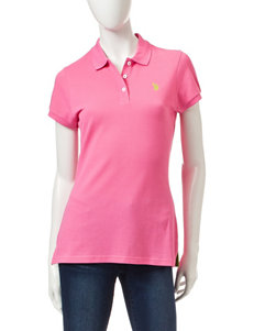 U.S. Polo Assn. Pink Little Pony Polo Top