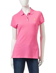 U.S. Polo Assn. Bright Orange Polos Shirts & Blouses