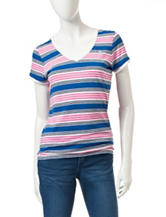 U.S. Polo Assn. Multicolor Stripe Print Top