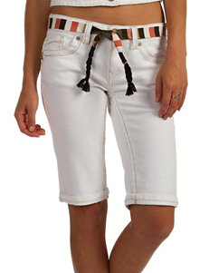 Unionbay® White Cropped Shorts
